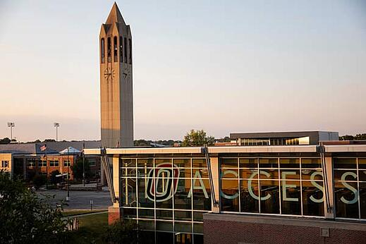 Criss Library access wrap with campanile