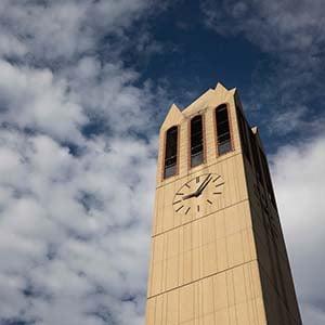 campanile clouds