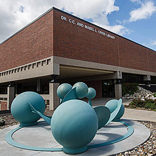 Library sculpture side