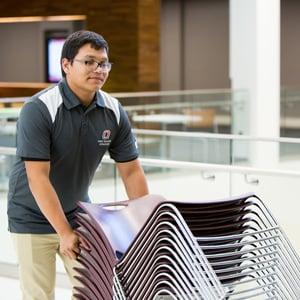 student worker in MBSC