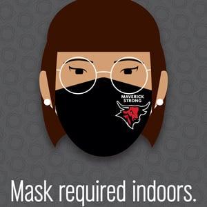 Masks Indoors Sign