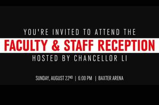Chancellor Li Faculty/Staff Reception
